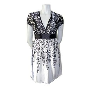 Guess Black and White Silky Dress Med (fits Small)